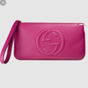 Gucci Pink Wristlet